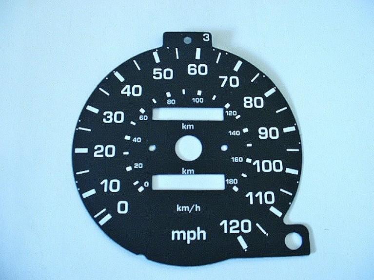 Import MPH speedo dial Mk1
