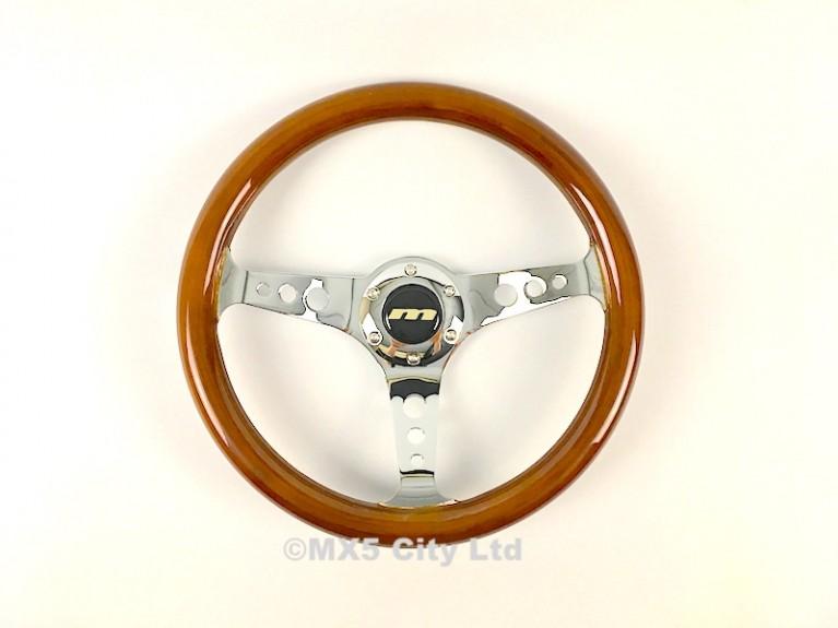 Wood Rimmed Steering Wheel Momo Fitting