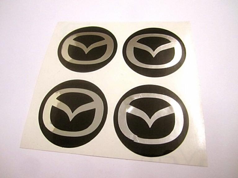 Mazda Logo Flying Wing Wheel Centre Sticker Set