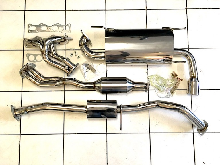 Full stainless exhaust Mk2 & Mk2.5
