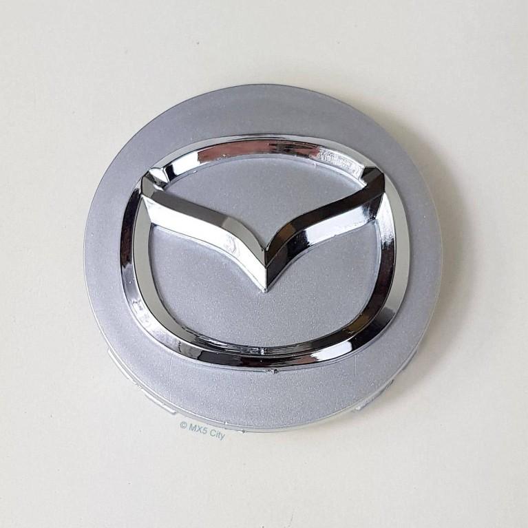 Mazda Logo Wheel Centres Silver (set of 4)