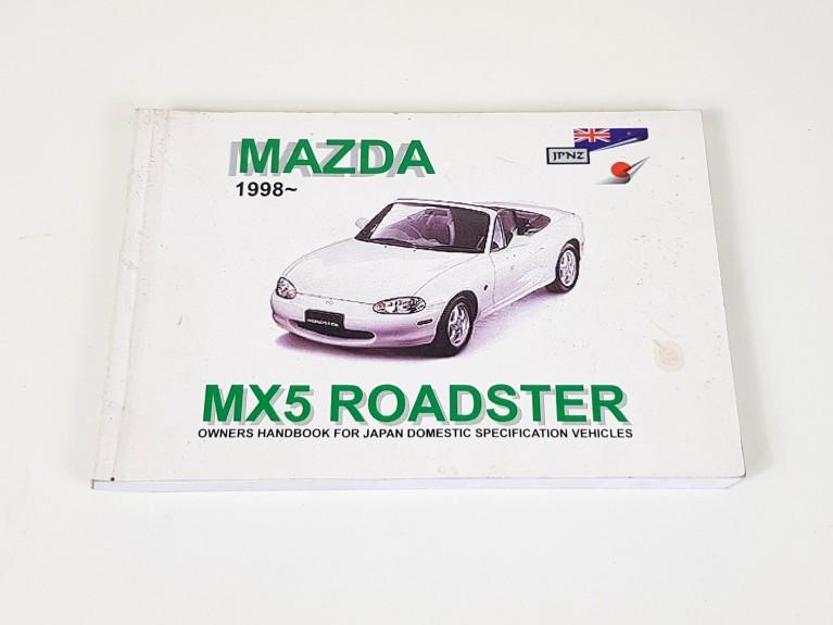 MX5 Owner's handbook for Mk2 Import models