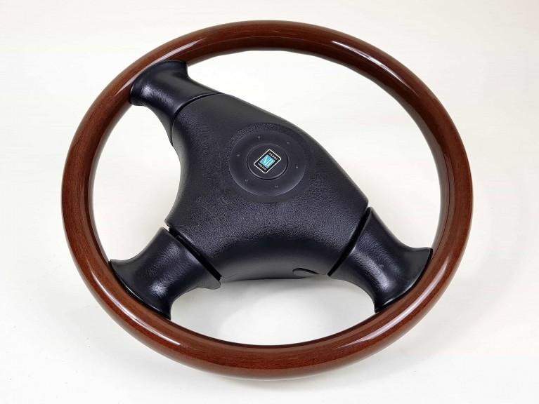 Genuine Nardi Wooden Steering Wheel + Airbag - Mk2/2.5 (Used)