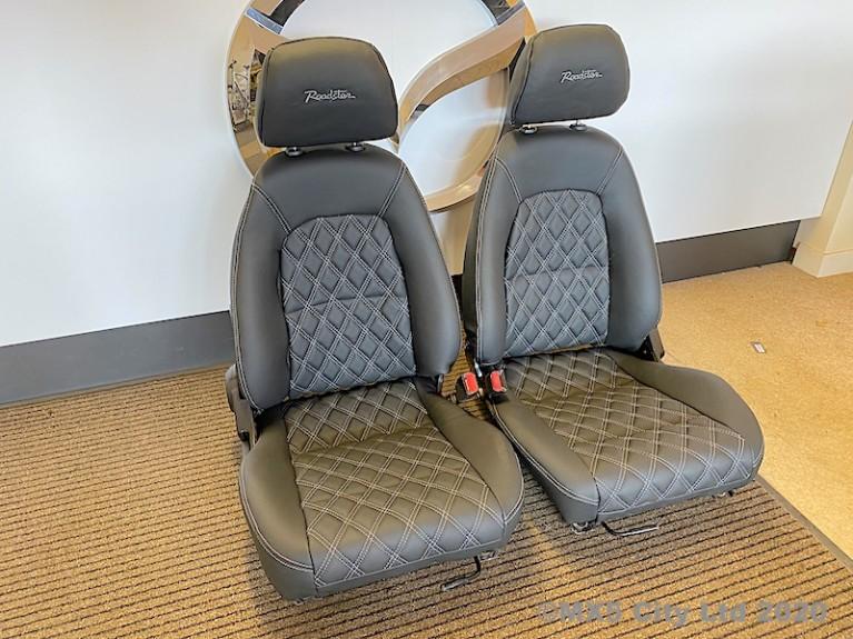 Diamond patterned seat set
