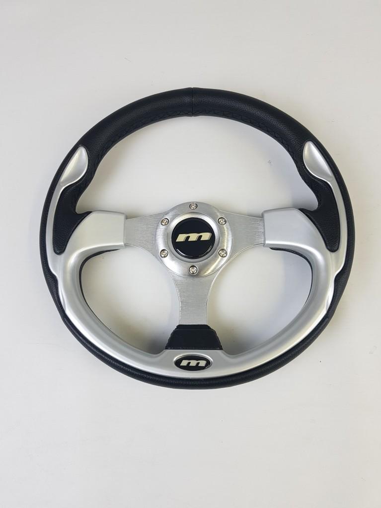 Sports steering wheel - Silver
