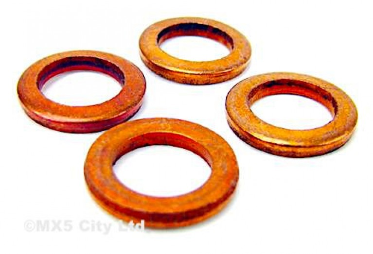 Copper banjo bolt washer set